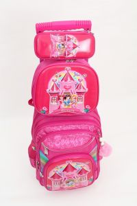 839a3ef3576 Disney princess school backpack trolley Bag 16 inch with Pencil Case   Lunch  Bag 3 Pcs Set