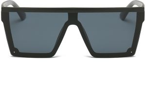 652e70be539 DONNA Cool Unisex Oversized Flat Top Sunglasses Square Aviator Shades  D89-YB08(Matte Black)