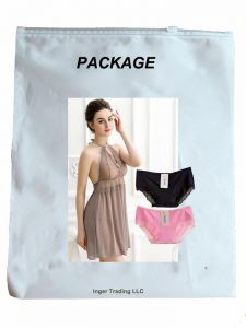 7d65aec7ab75e7 IngerT Elegant Wedding Night Dress Floral Lace See-Through Halter Neck  Backless Babydolls with Pantie for Women