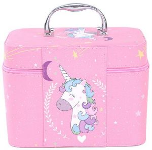82241c658 Unicorn Functional Cosmetic bag Women Fashion PU Leather Travel Make Up  Necessaries Organizer Zipper Makeup Case Pouch Toiletry Kit ,Pink