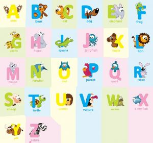 Cartoon Alphabet Wall Stickers A Z English Letters Home Decoration Children Rooms Home Vinyl Decor Kids Learning Wall Decals