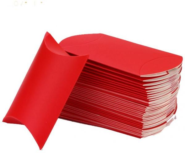 سوق تسوق best gift red kraft paper pillow favor gift box 100 pcs قطر