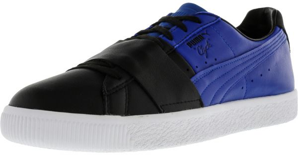 d05a89bf2f07 Puma Clyde Colorblock Fashion Sneakers for Men - Black   Blue