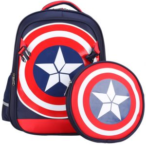 51844d06c4 Large Marvel American Captain s Schoolbag Primary School Boys Backpack  Children s Reduced Shoulder Bag Small