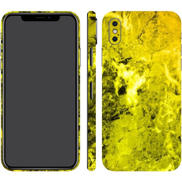 official photos 3b874 dd28c Switch iPhone X Shiny Yellow Marble (Printable) Textured Skin