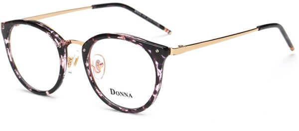 DONNA Stylish Clear Lens Glasses Small Circle Frame Blue Light ...