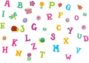 26 English Letter Wall Stickers Alphabet Abc Letter Kids Wall Decals Wall Stickers Removable Wall Stickers For Kids Nursery Bedroom Living Room