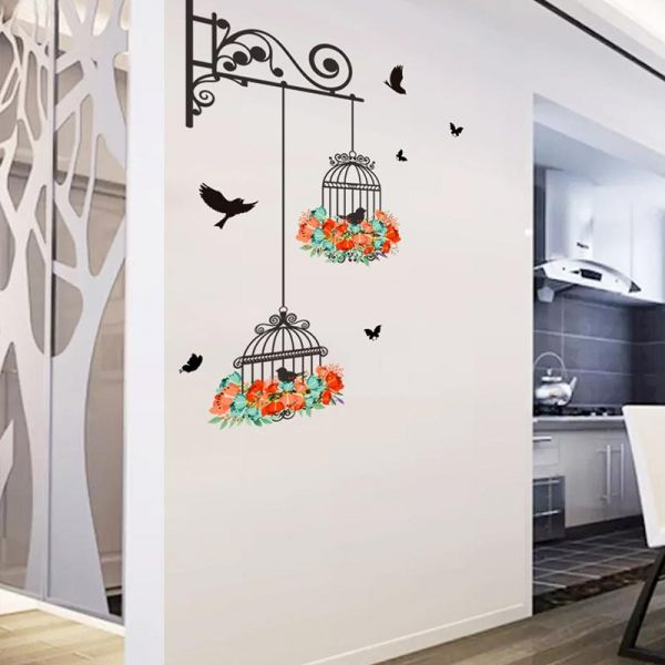 Tv Background Wallpaper Bird Cage Wall Stickers Souq Egypt