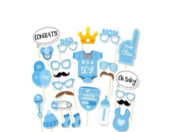 25pcs Photo Booth This Is A Boy For Baby Shower Party Photo Booth