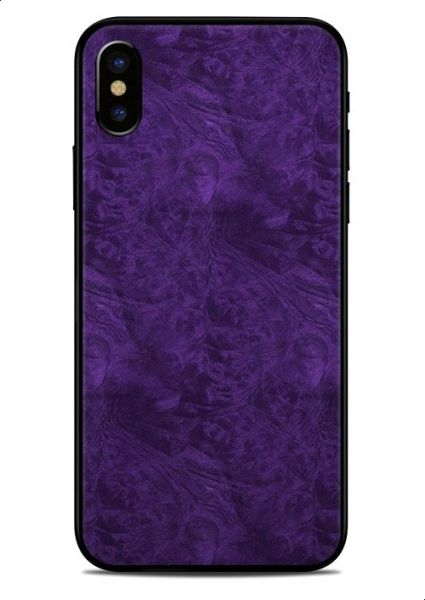 reputable site 9f51b 065cc Purple Classic Wood Sticker Skin For Apple Iphone X Covers Back And Sides