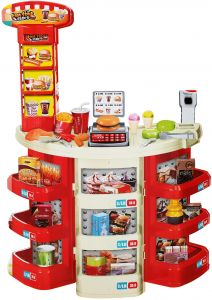 Kids Fashion Fast Food Restaurant Kitchen Childrens Playset Cooking Food  Role Pretend Play Fast Food Restaurant Machine Young Chef Cook Toys  Portable ...