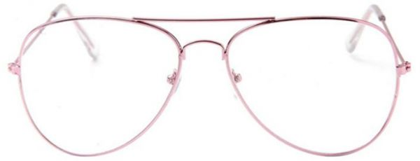 Round Clear Metal Frame Glasses | Souq - UAE