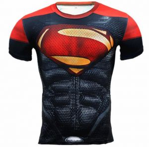 deb52ffc35c6 Marvel T-Shirt Superman 3D Printed Tee Gym Fitness High Elastic Muscle Tops
