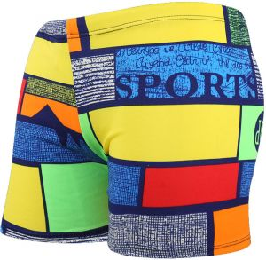 4f4784deea Men's Quick Dry Swim Trunks Color Block Sports Print Stripe Beach Shorts  Swimwear