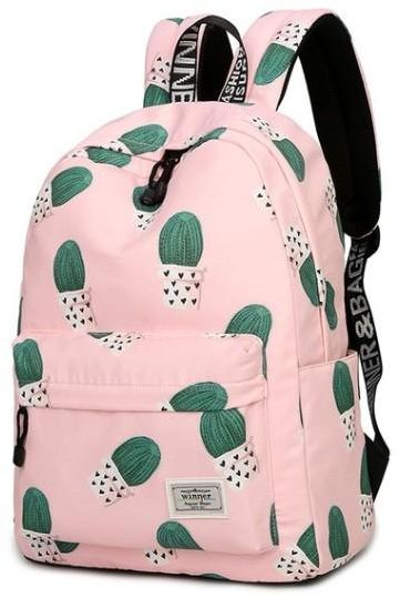 633a534804 Cute Women Girl Cactus Printed Backpack Travel Students Polyester School  Shoulder Bag Backpack Purse for Outdoor Sport Teenager Causal Laptop Bag