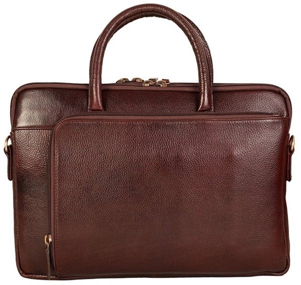 """Bag Jack® - Our """"Centauri : Equi-Scuto Belgium"""" handcrafted messenger is a thoroughly practical choice brown color leather laptop bag. 
