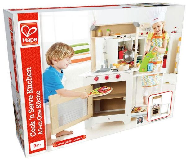 Hape Cook N Serve Kitchen Wooden Role Play Kitchen Set Play Set