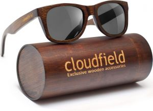 e55ba404a24 cloudfield Wood Sunglasses Polarized for Men and Women - Bamboo Wooden  Wayfarer Style