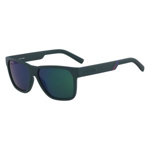 7a3c0ff6bd8a7d Lacoste Rectangle Sunglasses for Men - Blue Green lens
