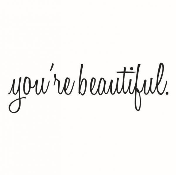 Image of: Printable You Are Beautiful Quote Mirror Decal Quotes Vinyl Wall Decals Walls Stickers Home Decoryoure Beautiful Black Souq Uae Souqcom You Are Beautiful Quote Mirror Decal Quotes Vinyl Wall Decals Walls