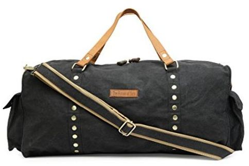 3950508765 The House of tara Special Canvas Large Duffle Gym Bag (Raven Black ...