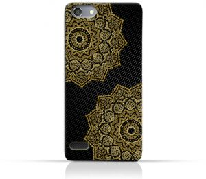 AMC Design Vintage Mandala 1201 Printed Case for Oppo Neo 7 - Black & Yellow