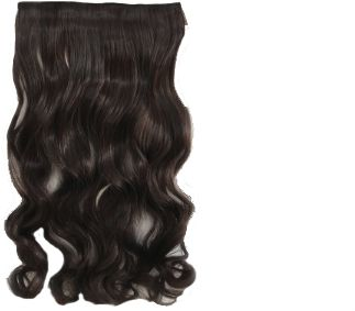 Women s Hair Extension Wig Long Wave curly brown Synthetic Hair Accessory  7221606e3