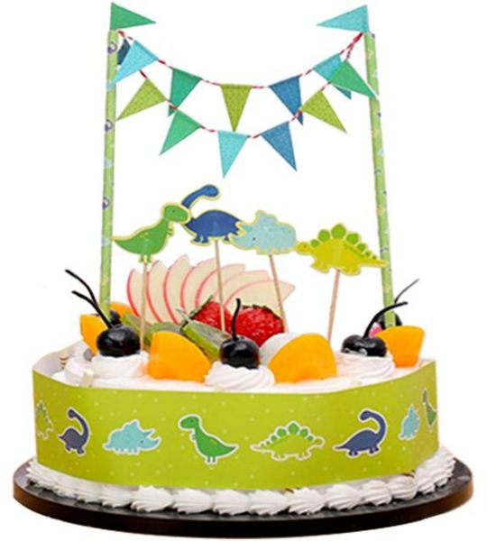 Jungle Theme Cake Topper Kit 6 Pcs For Birthday Celebration