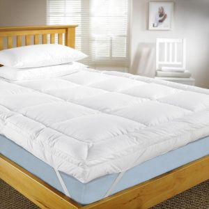 Mattress Topper 200x210cm 500GSM With Microfiber Outer White