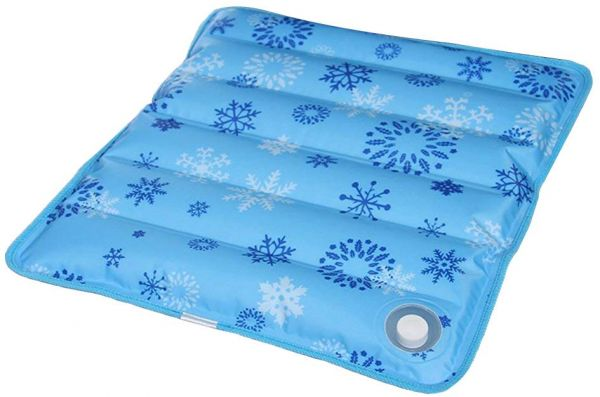 Seat Cooling Pad Waterproof Square Ice Mat For Travel Floor Couch Car Pet Bed Cover Snow Pattern