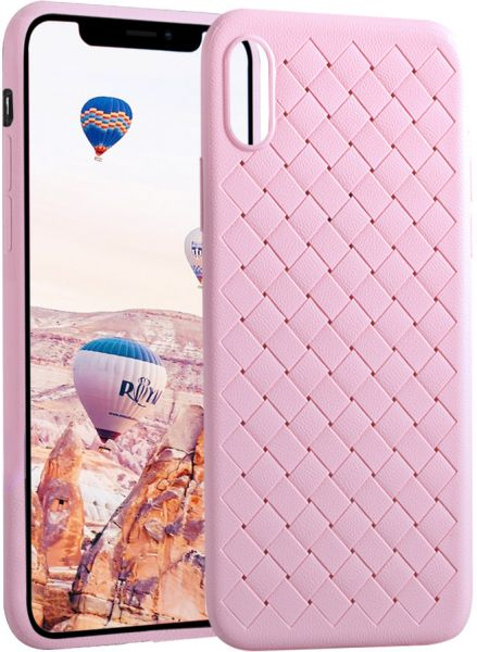 iPhone X Case,Meidom shock absorption Protective Defender Impact Resistant  Soft TPU Cover Case for iPhone X - Pink