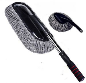 2pcs Practical Car Cleaning Tools Wax Brush Auto Exterior Retractable Wash Brush Car Duster Dust Wax Drag with Long Handle