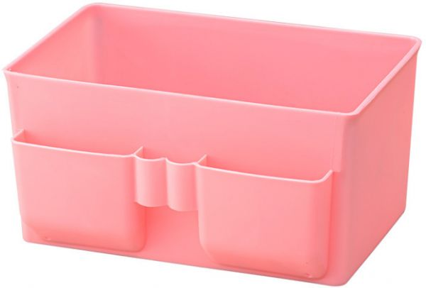 Plastic Desk Organizer Desktop Storage Box Holder For Cosmetic Brushes Palettes Nail Supplies And Office Stationery Jewelry Container