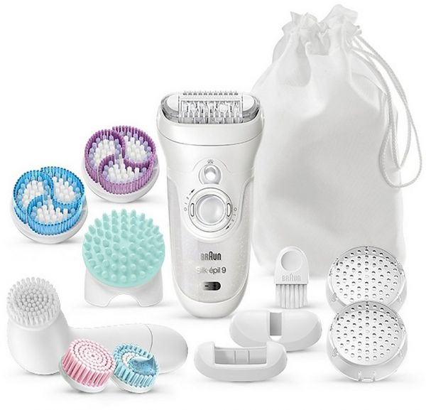 Braun Silk-Epil 9 SkinSpa 9-969 Wet and Dry Cordless Epilator with 6  Attachments  6c4fdc5b480e