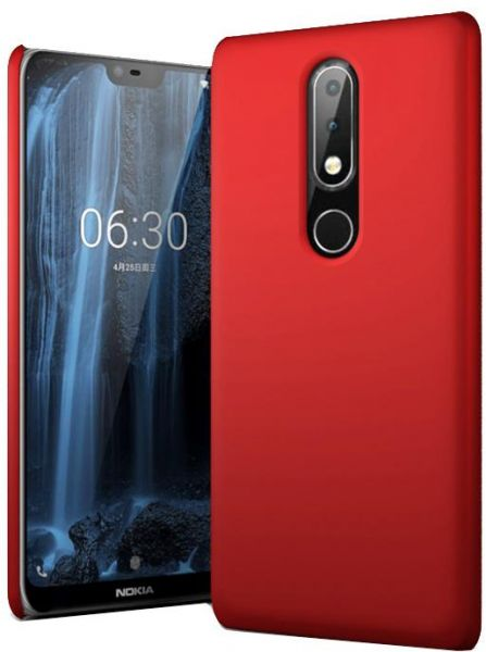 pretty nice dd9bc d63f4 For Nokia 6.1 PLUS, Nokia X6 - Coverking Slim Plastic Hard Case Cover - Red