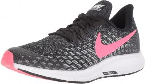 official photos cc3d7 642f8 Nike Air Zoom Pegasus 35 Gs Running Shoes for Girls - Black  White