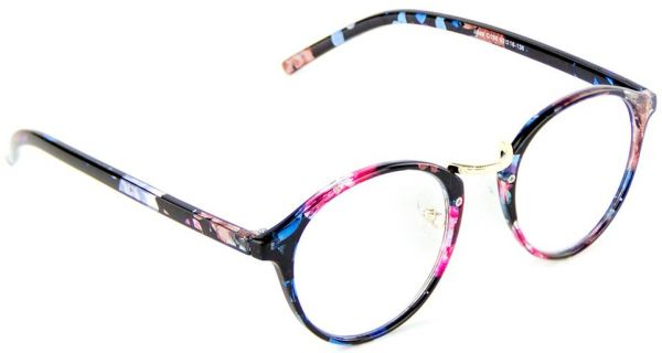 573fb8e5daf Cyxus Blue Light Filter Computer Glasses Blocking UV Anti Radiation Eyewear  Anti Eye Strain and headache Clear Lens Fashion Retro Floral Print Round  Frame