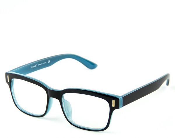 9ae6b25c1d79 Cyxus Blue Light Blocking Eyewear Anti Radiation Computer Glasses Anti Eye  Strain Headache UV Block Clear Lens Unisex Blue and Black Frame