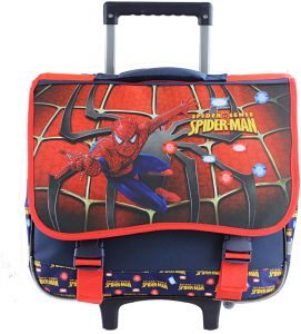 Spider man Kids  Rolling School trolley Backpack for 3-12years old bc9c4ca69cb23