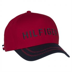 cfcba2aa121 Tommy Hilfiger Baseball   Snapback Hat for Men - Red   Black