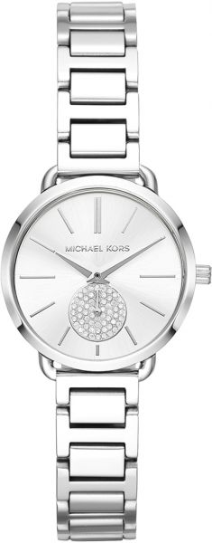 a1bd6a8d410f Michael Kors Portia Women s Silver Dial Stainless Steel Band Watch - MK3837