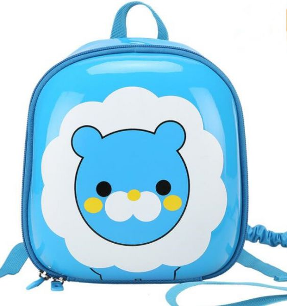 43613c3cff Kids Toddlers hard shell Backpack Preschool cute lion cartoon School bag  with Safety Leash for Boys Girls,blue