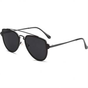 06087c79b3d SOJOS Classic Aviator Polarized Sunglasses for Men   Women Double Bridge -  Black Lens