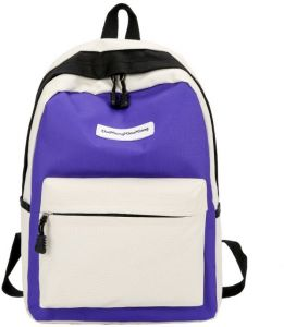 292595489a2f Harajuku style Woman Fashion Canvas Backpack Student Schoolbag Travel  Rucksack-Purple color