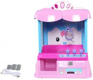 doll Grabber Machine Desktop Sweet Toy Claw Arcade Game Party Kids Christmas Gift Music