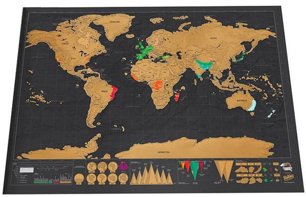 Scratch Off World Map Poster.Scratch Off World Travel Map Poster Copper Foil Wall Sticker