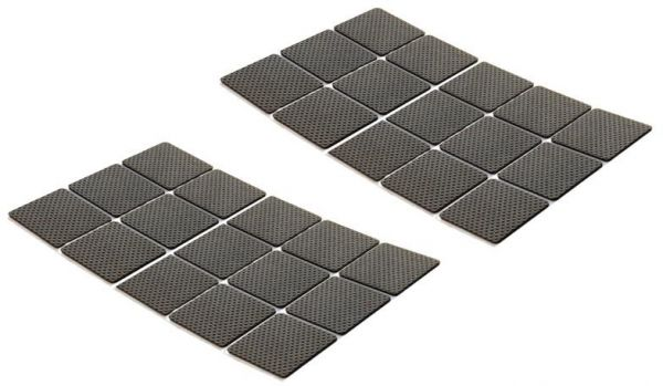 30pcs Black Multi Functional Thicken Rubber Non Slip Furniture Pads Self Stick Chair Glides Stoolrubber Souq Uae
