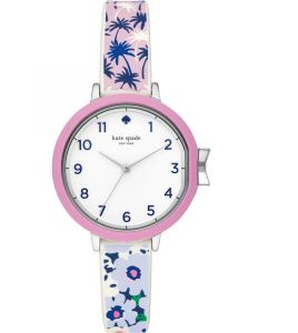 e0d6757499ef9 Kate Spade Park Row Women s White Dial Silicone Band Watch - KSW1446