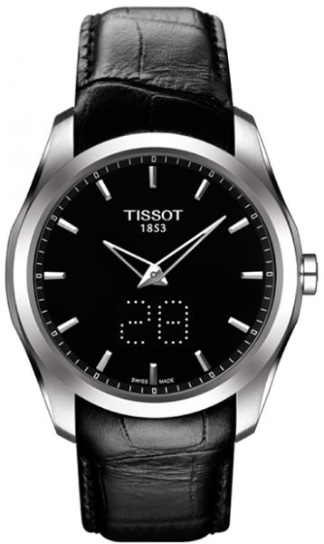 7cfbfe0cf0a Tissot Couturier Men s Black Dial Crocodile Leather Band Watch -  T0354461605101