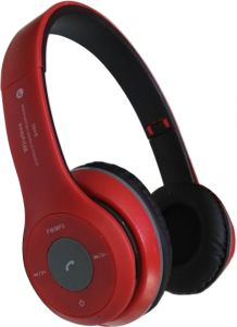 7631274f7b8 B460 Wireless Bluetooth Headset with Memory Card Reader and FM Radio JBl  Design- Red